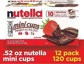 Nutella Chocolate Hazelnut Spread, Single Serve Mini Cups, 0.52 Ounce (Pack of 120)