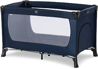 Hauck Reisebett Dream N Play Plus / für Babys und Kinder ab Geburt bis 15 kg / 120 x 60 cm / Leicht / Kompakt Faltbar / Inkl. Trage Tasche / Schlupf / Navy Blau
