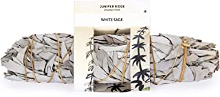 Juniper Ridge California White Sage Large Incense Smudge Wand - Aromatherapy & Calming Meditation Therapy - Organic with No Synthetic Fragrance - Single Count