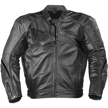 Joe Rocket Superego Men's Hybrid Leather/Mesh Motorcycle Jacket (Black, Medium)