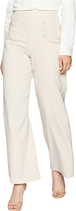 High-Waist Sailor Ginger Pants
