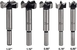 Earl Diamond Shank Forstner Peephole Drill Bit for Door Hole Opener Steel Woodworking Professional Boring Power Rotary Cutter (5Pcs Forstner Bit Set)