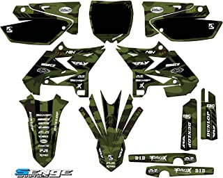 Senge Graphics kit compatible with Yamaha UFO RESTYLED 2002-2004 YZ 125/250 (2-Stroke), Apache Matte Green (MATTE FINISH) Complete Graphics Kit