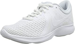 Nike Women's Revolution 4 EU Competition Running Shoes, White-Pure Platinum 100, 6 UK