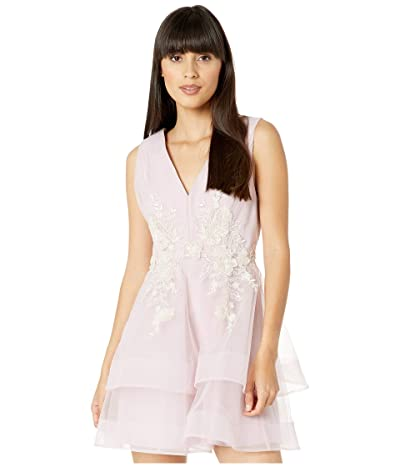 BCBGMAXAZRIA Embroidered Tulle Cocktail Dress (Lavender Mist) Women