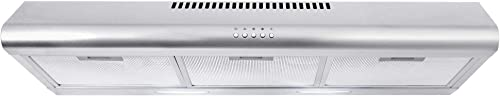 Cosmo COS-5MU36 36 in. Under Cabinet Range Hood Ductless Convertible Duct, Slim Kitchen Stove Vent with 3 Speed Exhau...