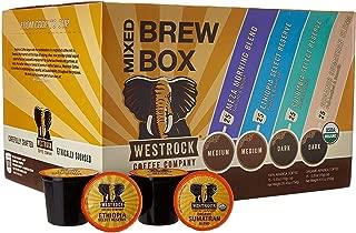 Westrock Coffee Company Mixed Brew Box 2.0 SS Cups 100 count (25ea Meza Morning Blend, Organic Sumatran, Ethiopian, Colombian)