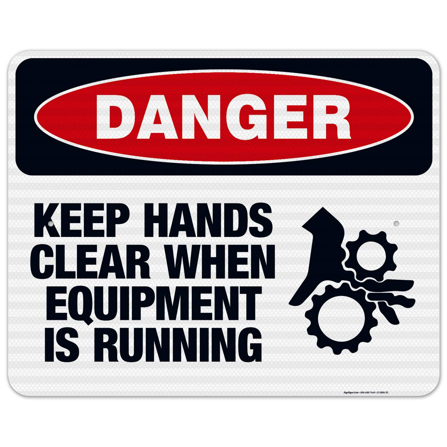 Max 51% OFF Keep Hands Clear When Equipment is Running Sign Sig Danger Mail order OSHA