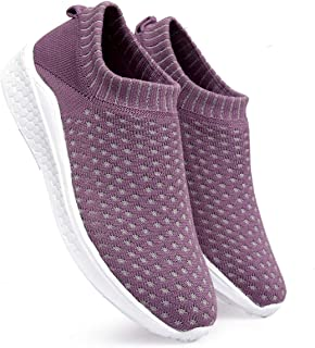 meriggiare® Women Fashion Breathable Sneakers Comfortable Sock Slip-ons Lightweight Sport Gym Fitness Workout Jogging Walking Memory Foam Running Sports Sneakers Shoes
