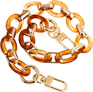 ARTIBETTER Amber Acrylic Bag Chain Straps Replacement Acrylic Handbag Link Curb Chains Strap Purse Clutches Handle Strap H...