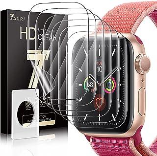 TAURI 6 Pack Screen Protector Voor Apple Watch Serie 7 45mm Bubble-vrij Eenvoudige Installatie HD Clear TPU Beschermende F...