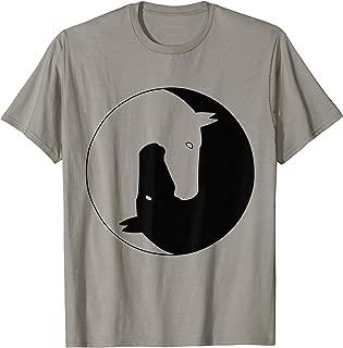 Yin Yang Horse Chinese Tai Chi Symbol Tshirt For Horse Lover