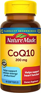 Nature Made CoQ10 200 mg Softgels, 40 Count for Heart Health
