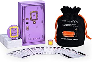 monochef 12 Friends TV Show Merchandise Trivia Quiz Card Games with 600 Questions Portable Drawstring Bag Specific Badge f...