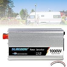 Car Power Inverter Dc 12v a 110v 220v Ac Conversor Onda Senoidal Pura Com Tomada Ac E Carregador Carro Usb E Porta De Acen...