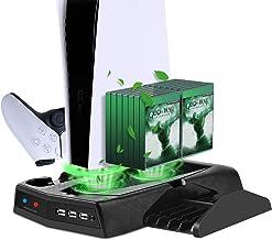 Suporte de carregamento vertical com ventilador de refrigeração para PS5 Edição Digital/Ultra HD, estação de carregamento ...