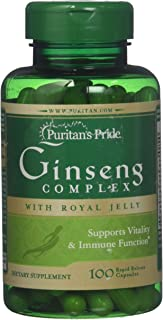 Puritans Pride Ginseng Complex 1000 mg Rapid Release Capsules, 100 Count