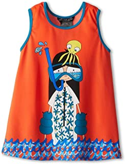 Little Marc Jacobs Miss Marc Snorkeling Cover-Up Dress Vibrant Red