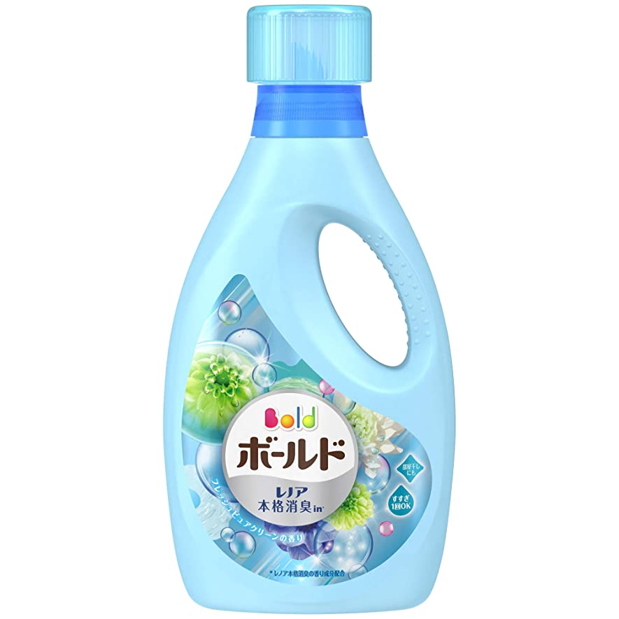 チューブうねるスタジアム洗濯洗剤 液体 柔軟剤入り ボールド フレッシュピュアクリーン 本体(850g)
