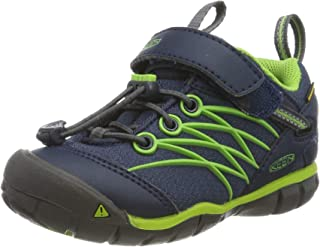 Keen Unisex Kid's Chandler CNX WP Hiking Shoe Dress Blues/Greenery 4 Youth US Big Kid