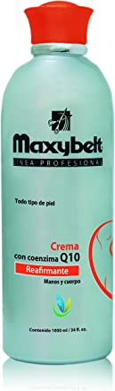 Maxybelt moisterizer body cream It firms the skin with Q 10 Vitamin E, Pantenol and