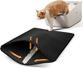 Seemo Cat Litter Mat, Cat Litter Trapping Mat, Honeycomb Double Layer Design,Super Soft EVA material, Urine and Water Proo...