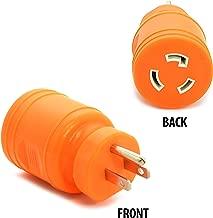 Ceptics L5-20R Female to NEMA 5-15p Male Plug Adapter, Attachment Locking Connector 20 Amp to 15 Amp