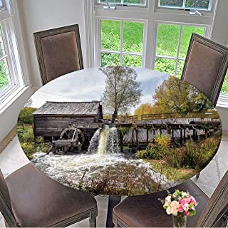 Mikihome Round Tablecloths Ancient Water Mill from The Village Krasnikovo Kursk Region Russia Built in or Everyday Dinner, Parties 47.5