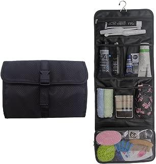 Travel Hanging Toiletry Bag Travel Kit Organizer Cosmetic Makeup Waterproof Wash Bag for Women Girls Travel Case for Bathroom Shower (Black)