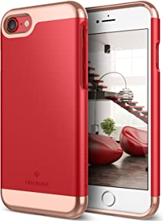 Caseology Savoy for Apple iPhone 8 Case (2017) / for iPhone 7 Case (2016) - Stylish Design - Red