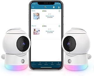 Motorola Peekaboo Video Baby, Elderly, Pet Monitor with Night Light - 2 Portable Cameras with Two-Way Audio - 1080p, Wide ...