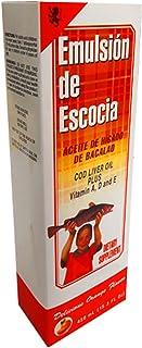 Sanar Emulsion de Escocia, Cod Liver Oil to Enhance Your Children Immune System, Vitamins A and D, E and B1, Dietary Suppl...
