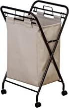 Household Essentials Polyester Laundry Hamper, Antique