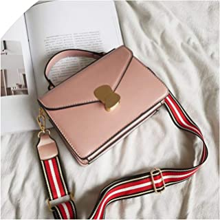 Casual Wide Strap Handbags Women Messenger Bags Pu Leather Shoulder Crossbody Bag Ladies Phone Flap Purses