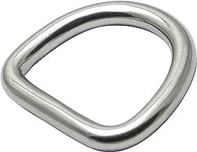 OPIOL QUALITY   D-ring 5 x 25 gelast en gepolijst, roestvrij staal A4 (4 stuks)   halfronde ring   D-ringen   moer   stale...