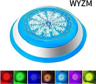 Foco LED Piscina,AC 12V 54W LED Piscina Iluminacion,IP68 LED Sumergible de Lámpara Impermeable RGB Control Remoto para Swimming Pool Wall Mounted(54W-RGB)