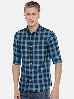 Chennis Men's Blue Casual Shirt