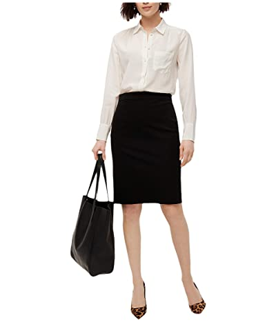 J.Crew No. 2 Pencil Skirt in Bi-Stretch Cotton (Black) Women