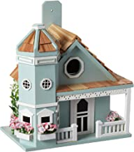 Home Bazaar Flower Pot Cottage Birdhouse, Blue