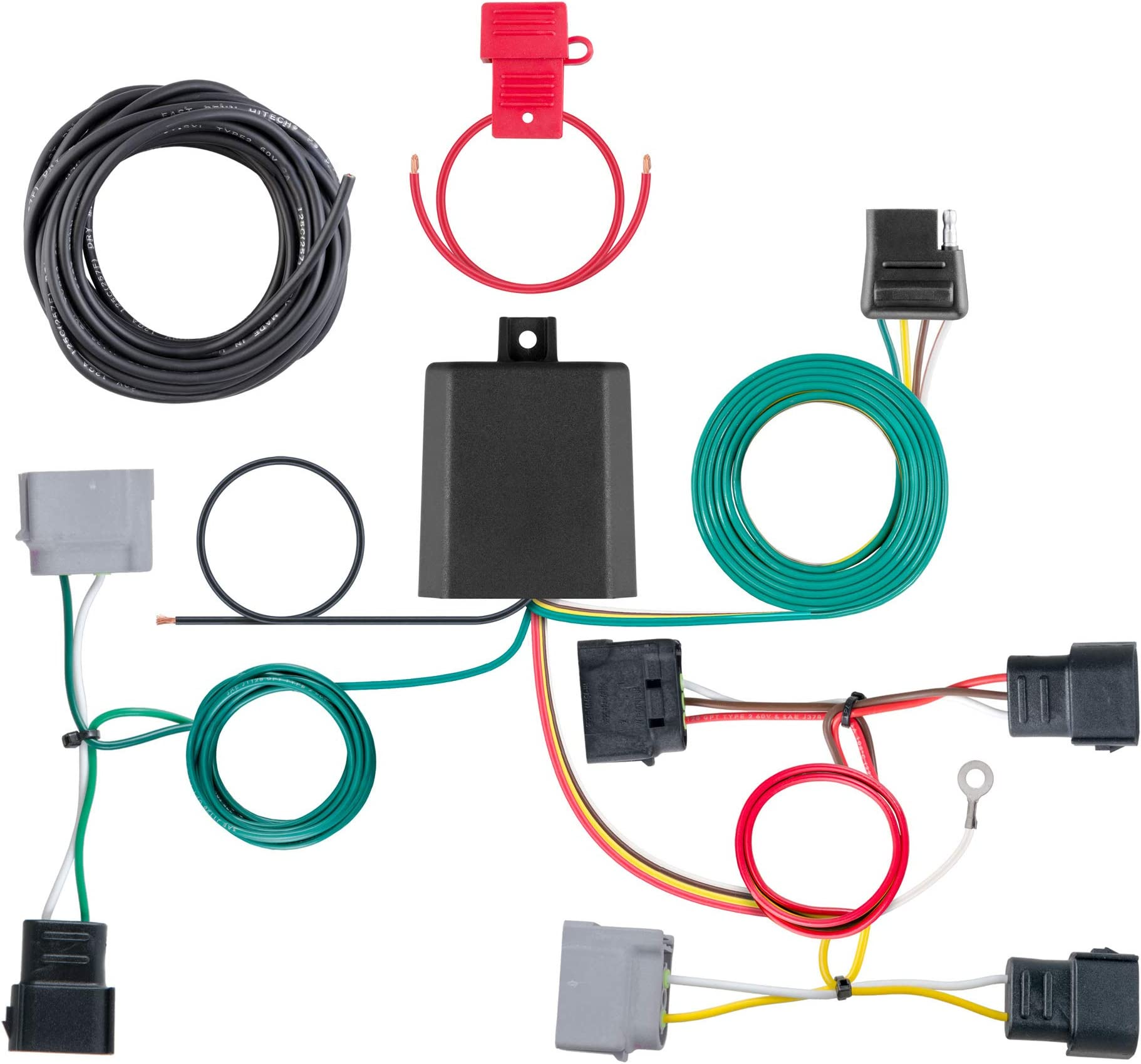 CURT 400 Vehicle Side Custom 40 Pin Trailer Wiring Harness, Select Ford  Escape, Mazda Tribute
