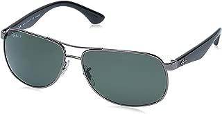 Ray-Ban Men's RB3502 Rectangular Metal Sunglasses