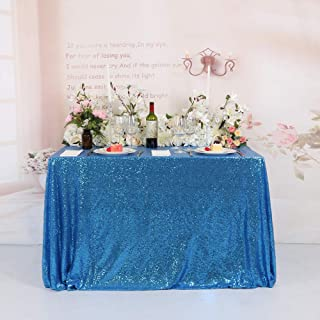 BalsaCircle 60x102-Inch Turquoise Rectangle Tablecloth for Wedding Party Cake Dessert Events Table Linens