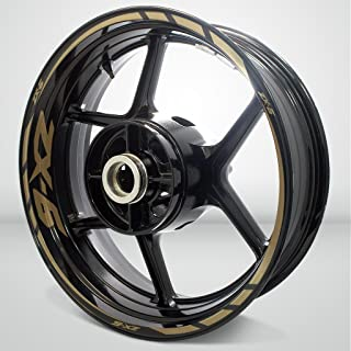Matte Gold Motorcycle Rim Wheel Decal Accessory Sticker for Kawasaki ZX6
