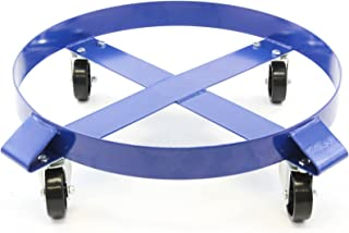 Heavy Duty - Swivel Caster Wheel - Drum Dolly 1000 Pound Capacity - 30 Gallon Steel Frame Non Tipping