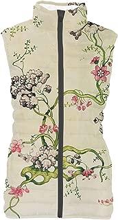 Rainbow Rules Vintage Florals Womens Puffer Vest Bodywarmer Gilet