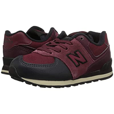New Balance Kids IC574v1 (Infant/Toddler) (NB Burgundy/Black) Boys Shoes