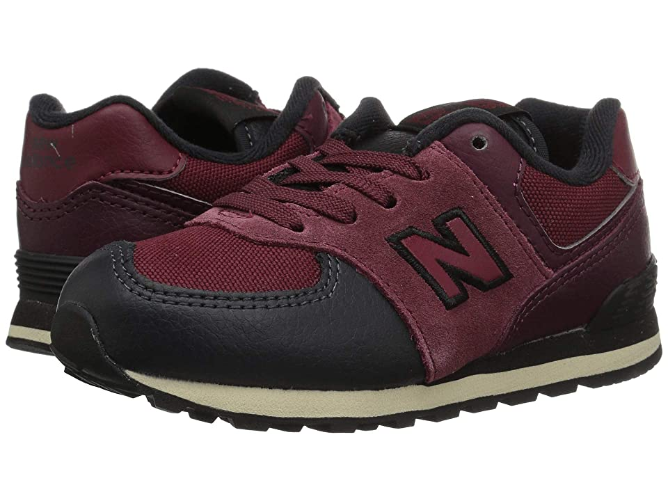 New Balance Kids IC574v1 (Infant/Toddler) (NB Burgundy/Black) Boys Shoes