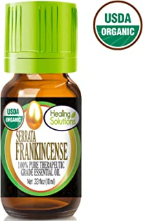 Organic Frankincense Essential Oil (100% Pure - USDA Certified Organic) Best Therapeutic Grade Essential Oil - 10ml