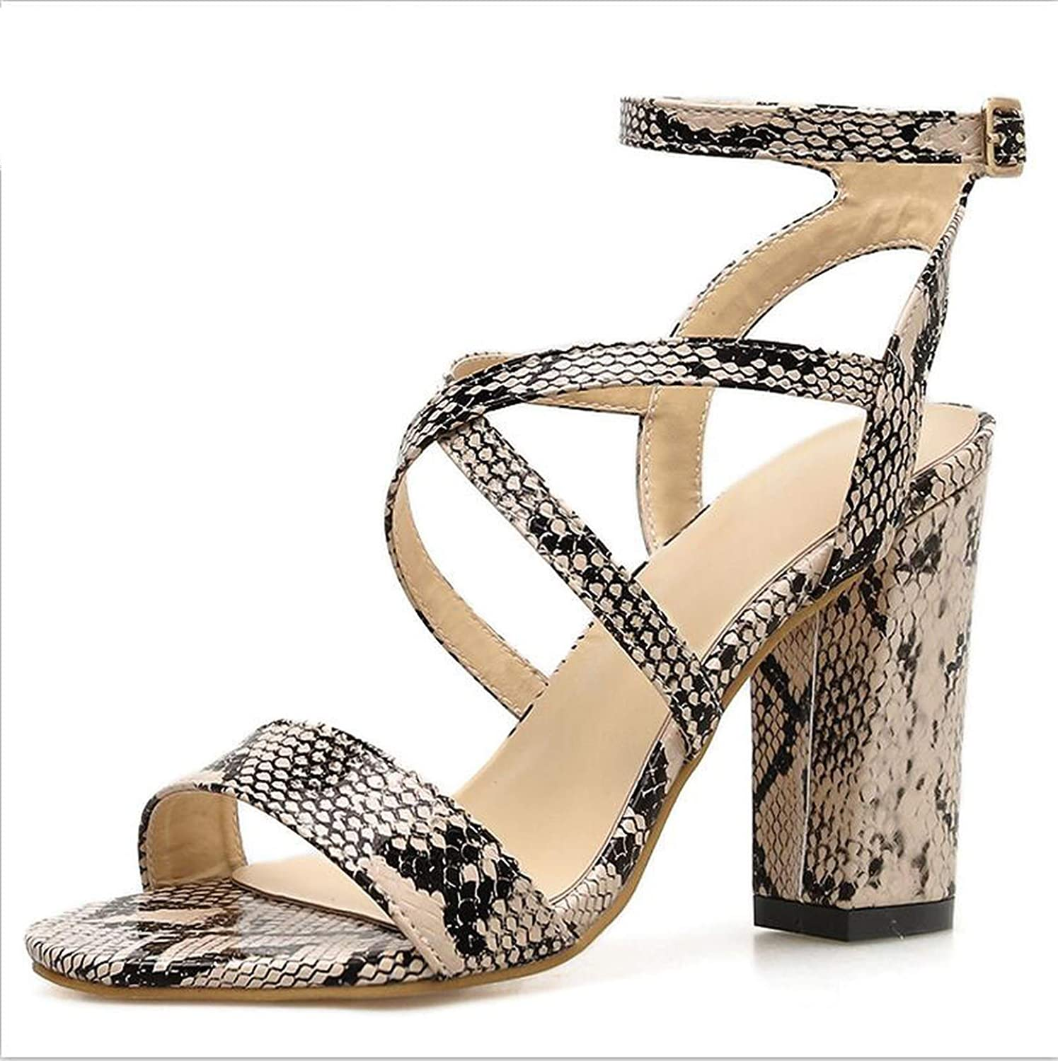 Summer Sexy Pu Women Heeled Sandals Ankle Strap Gladiator Pumps High Heels Peep Toe Dress Lady shoes 35-40