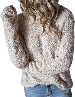 Women Long Sleeve Turtleneck Fleece Pullover Outwear Fleece Sweaters Tops